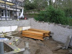 Construction of the Decking Area