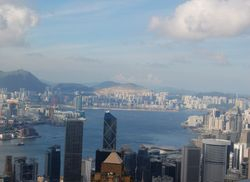 HK foreground, Kowloon across the water