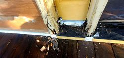 Removing rotted door frame