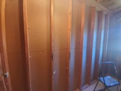removed drywall