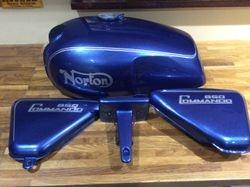 Norton Roadster in fireflake blue