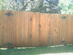 Graffiti removal from a wooden fence