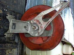 Steam clean hose reel