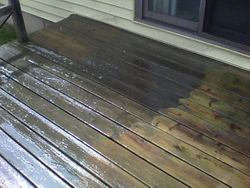 Cleaning a small deck