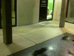 Store front cleaning and gum removal
