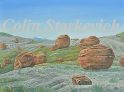 """Red Rock Coulee (12 by 16"""" oil on canvas0"""