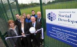The Official opening of the Training Pitch