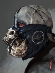 Biker skull mask