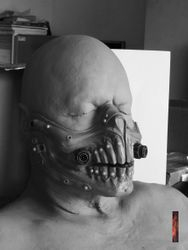 Sculpt of Immortan mask