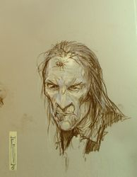 Early Skellig sketch.