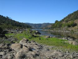 Mann River and the junction of the Clarence River