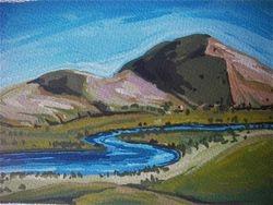 Mann River  Valley - postcard