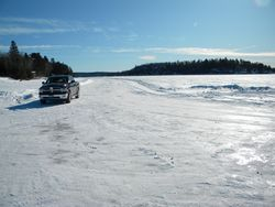 Ice Road in winter