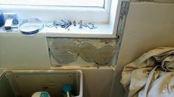 Bad window sill tile