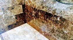 Emperador marble shower