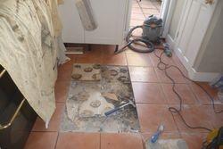Loose tile kitchen floor