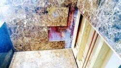 Marble wall repair