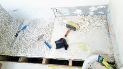 Removing the wetroom floor