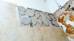 Bad wall tiling