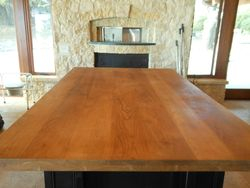 The teak pizza island countertop