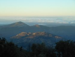 Sunrise from atop Palomar mountain