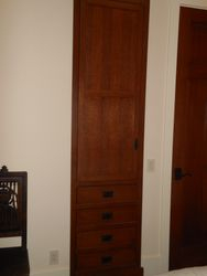 Flanged linen cabinet