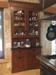 Inset spice cabinet