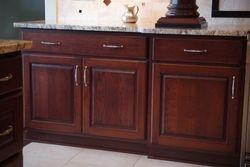 Door details. standard overlay, concealed hinges, raised panel.