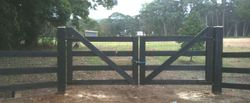 Entrance Gate in hard wood timber