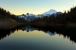 Mount Baker Twilight Reflection