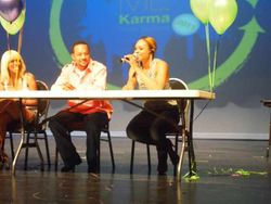 "Demetria McKinney & Panel At The ""Show Me Karma"" Event"