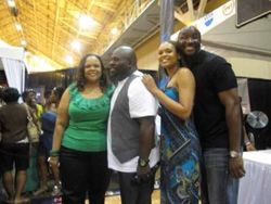 "Tamela Mann, David Mann, Demetria McKinney & Roger Bobb During The ""Essence Music Festival"""