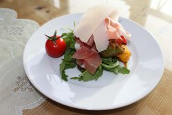 Parma Ham with roast peppers