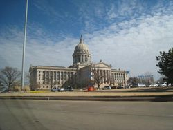 The magnificent Oklahoma State Capitol Building....