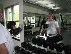 Bodyguard weight training....