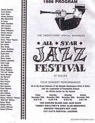 Manassas Jazz Festival 1986