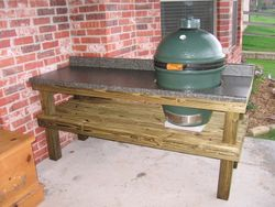 Large Egg And Homemade Table