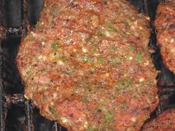 Hot Jalapeno Eagle Rub Burger