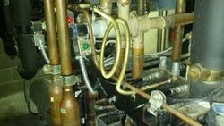 Leak repair on split condenser pump out