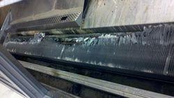 Seafood case evaporator