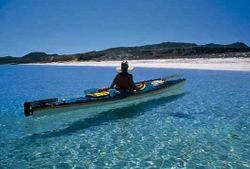 Kayak in Pristine waters