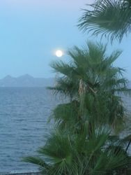 Moonrise in front of Loreto