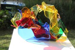 Colori Piegato : Perspex, bolts and screws, 500mm x 300mm x 200 mm