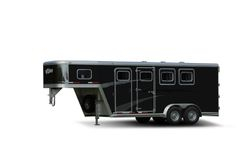 Black Aluminium Skin Horse Trailer