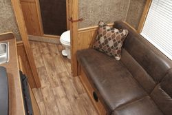 View  of an 8ft shortwall with Sofa option