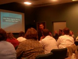Johnny Loewy packed training in Columbia