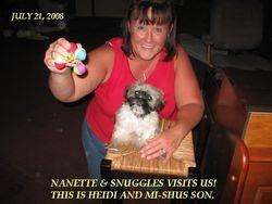 NANETTE & SNUGGLES COMES TO VISIT