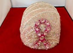 Pink Rhinestones Breast Cancer Emblem