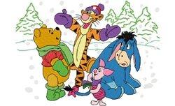 Pooh vrienden winter 176 X 129