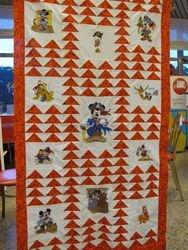quilt with diseny piraten